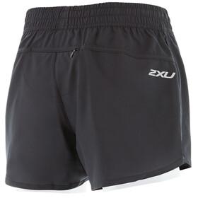"""2XU W's X-Vent 4"""" Shorts Black/Pearl Blue"""